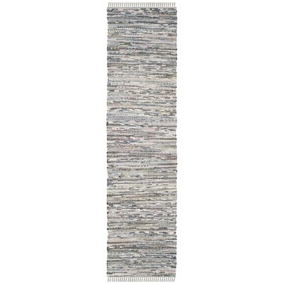 Havelock Striped Contemporary Hand-Woven Gray Area Rug Rug Size: Runner 23 x 12
