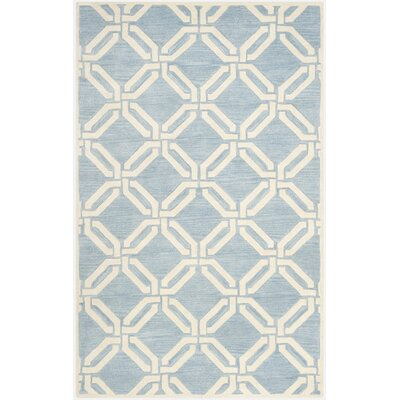 Aubrielle Blue/Ivory Area Rug Rug Size: Rectangle 3 x 5