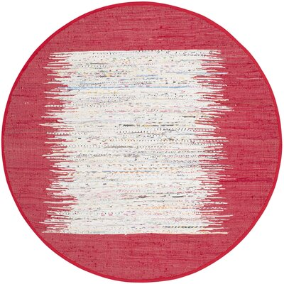 Milena Hand-Woven Ivory/Red Area Rug Rug Size: 8 x 10