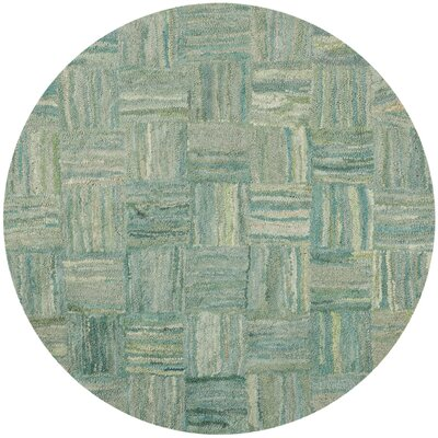 Upton Hand-Tufted Green Area Rug Rug Size: Round 8