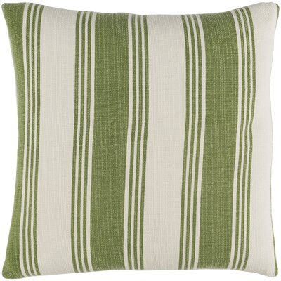 Douglasville Cotton Throw Pillow Size: 18 H x 18 W x 4 D, Color: Olive/Ivory