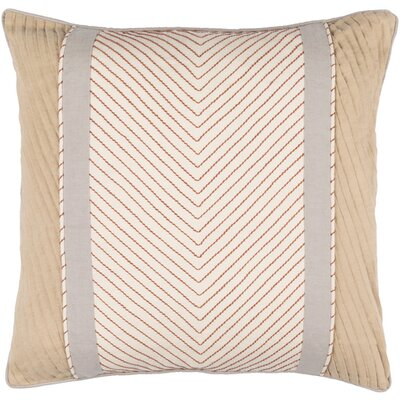 Heming Throw Pillow Size: 18 H x 18 W x 4 D, Color: Rust/Gray