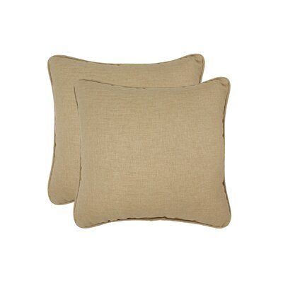 Paulino Outdoor Throw Pillow Color: Khaki