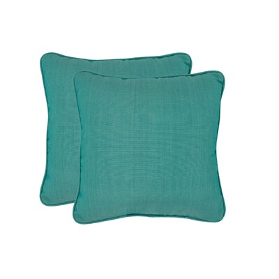 Paulino Outdoor Throw Pillow Color: Lake Blue