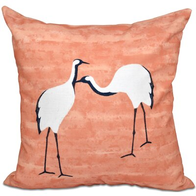 Boubacar Stilts Animal Print Throw Pillow Size: 18 H x 18 W, Color: Coral