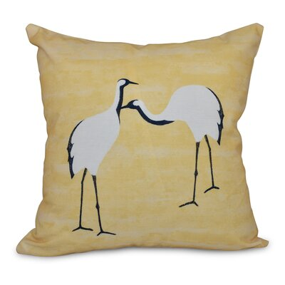 Boubacar Stilts Animal Print Throw Pillow Size: 26 H x 26 W, Color: Yellow
