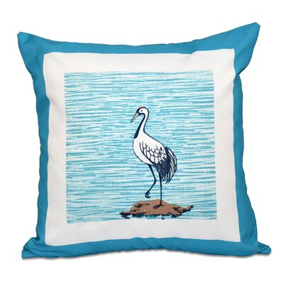 Boubacar Sandbar Animal Print Throw Pillow Color: Turquoise, Size: 26 H x 26 W