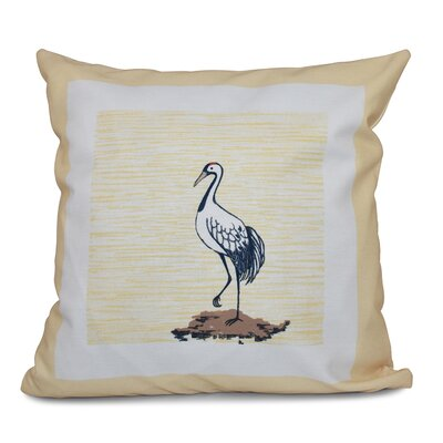 Boubacar Sandbar Animal Print Throw Pillow Size: 16 H x 16 W, Color: Yellow