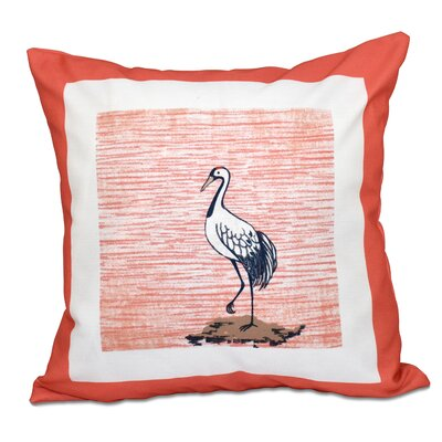 Surrey Sandbar Animal Print Throw Pillow Size: 20 H x 20 W, Color: Coral