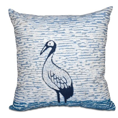 Boubacar Bird Watch Animal Print Throw Pillow Color: Teal, Size: 18 H x 18 W