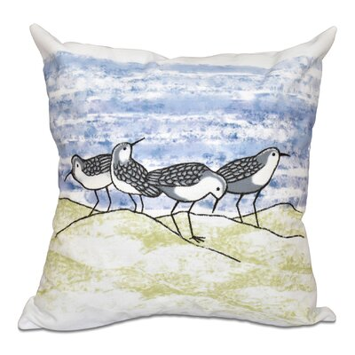 Boubacar Sandpipers Animal Print Throw Pillow Color: Gray, Size: 26 H x 26 W