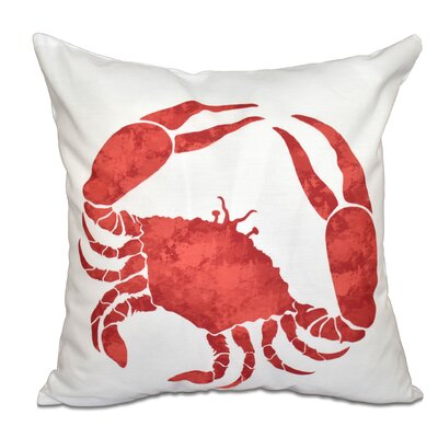 Surrey Crab Throw Pillow Size: 18 H x 18 W, Color: Coral