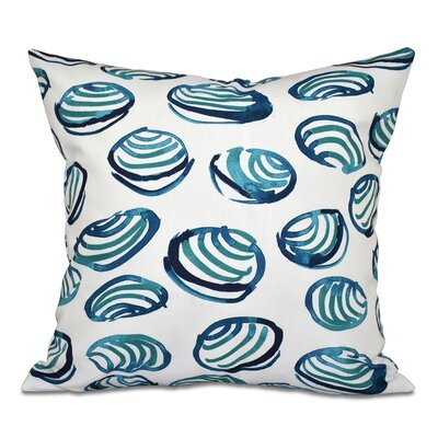 Cedarville Clams Geometric Print Throw Pillow Size: 16 H x 16 W, Color: Teal
