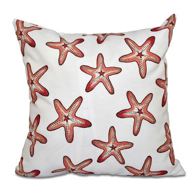 Cedarville Soft Starfish Geometric Print Throw Pillow Size: 26 H x 26 W, Color: Coral