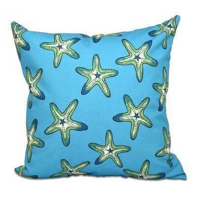 Rocio Soft Starfish Geometric Print Throw Pillow Size: 16 H x 16 W, Color: Turquoise/Green