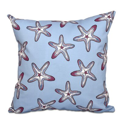 Cedarville Soft Starfish Geometric Print Throw Pillow Size: 16 H x 16 W, Color: Purple/Blue