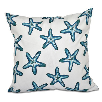 Cedarville Soft Starfish Geometric Print Throw Pillow Size: 26 H x 26 W, Color: Teal