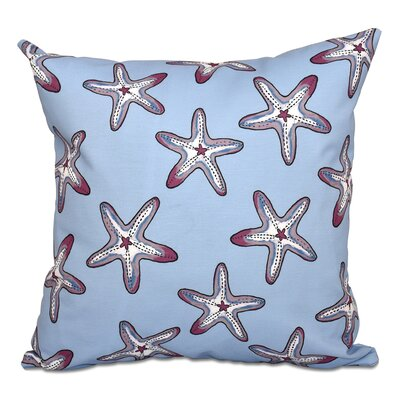 Cedarville Soft Starfish Geometric Print Throw Pillow Size: 16 H x 16 W, Color: Blue/Purple