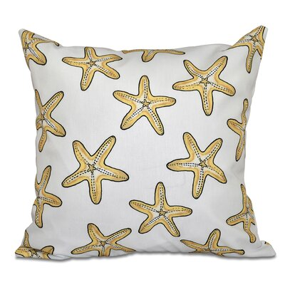 Cedarville Soft Starfish Geometric Print Throw Pillow Size: 16 H x 16 W, Color: Gold