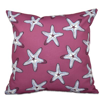 Cedarville Soft Starfish Geometric Print Throw Pillow Size: 18 H x 18 W, Color: Purple