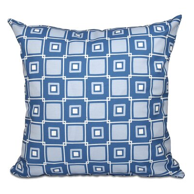 Cedarville Square Geometric Print Throw Pillow Size: 16 H x 16 W, Color: Blue