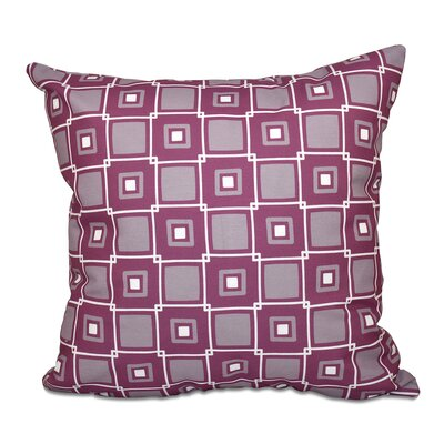 Rocio Square Pop Geometric Print Throw Pillow Size: 16 H x 16 W, Color: Purple