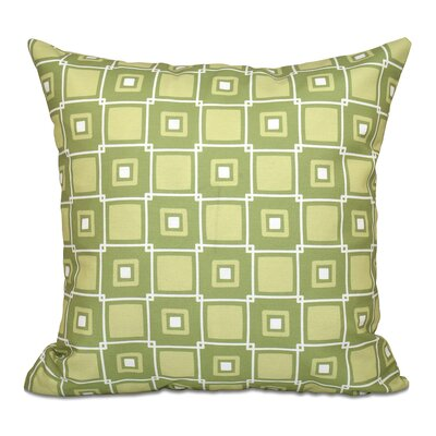 Rocio Square Pop Geometric Print Throw Pillow Size: 18 H x 18 W, Color: Green