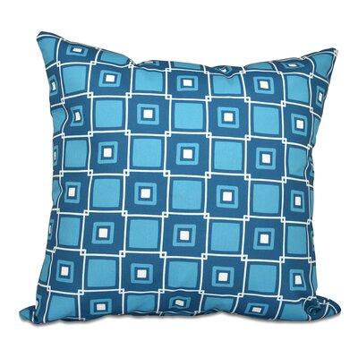 Rocio Square Pop Geometric Print Throw Pillow Color: Teal, Size: 20 H x 20 W
