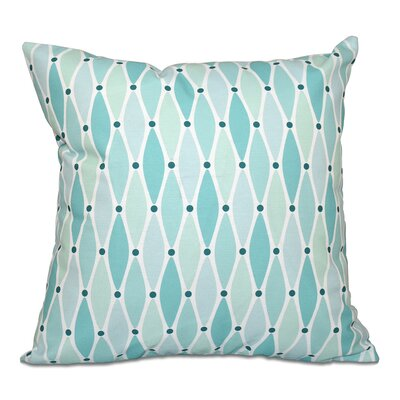 Cedarville Wavy Throw Pillow Color: Aqua, Size: 20 H x 20 W
