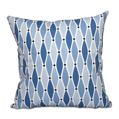 Cedarville Wavy Throw Pillow Size: 16 H x 16 W, Color: Blue