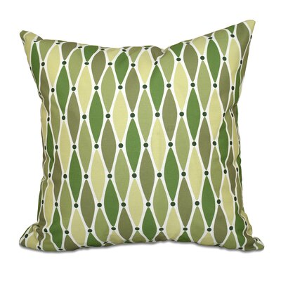 Rocio Wavy Geometric Print Throw Pillow Size: 18 H x 18 W, Color: Green