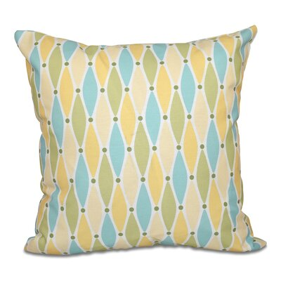 Cedarville Wavy Geometric Print Throw Pillow Size: 26 H x 26 W, Color: Yellow