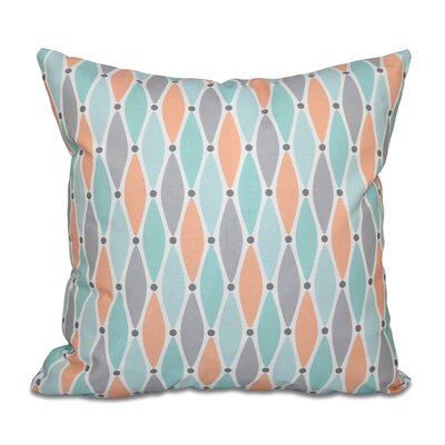 Cedarville Wavy Geometric Print Throw Pillow Color: Aqua, Size: 26 H x 26 W