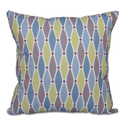 Rocio Wavy Splash Geometric Print Throw Pillow Size: 16 H x 16 W, Color: Blue