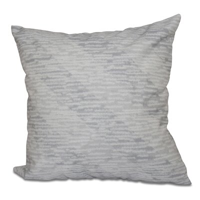 Cedarville Marled Knit Stripe Geometric Print Throw Pillow Size: 16 H x 16 W, Color: Gray