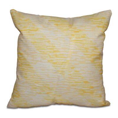 Rocio Marled Knit Stripe Geometric Print Throw Pillow Size: 16 H x 16 W, Color: Yellow