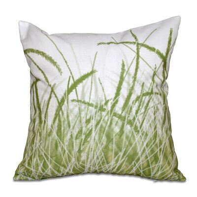 Rocio Sea Grass 1 Floral Print Throw Pillow Size: 18 H x 18 W, Color: Green