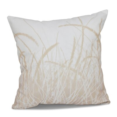 Rocio Sea Grass 1 Floral Print Throw Pillow Size: 26 H x 26 W, Color: Taupe
