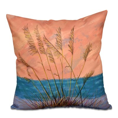 Rocio Happy Place Floral Print Throw Pillow Size: 16 H x 16 W, Color: Coral