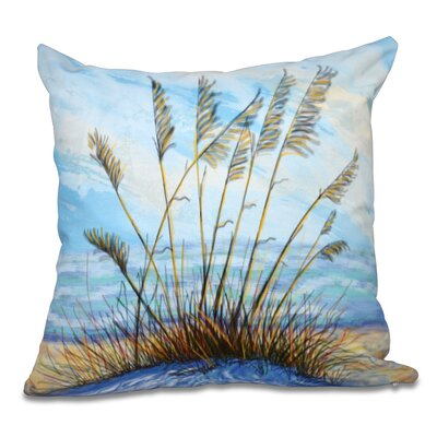 Rocio Happy Place Floral Print Throw Pillow Size: 26 H x 26 W, Color: Blue