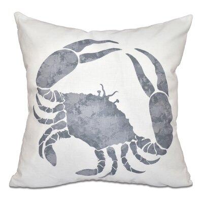Rocio Crab Outdoor Throw Pillow Size: 18 H x 18 W, Color: Gray