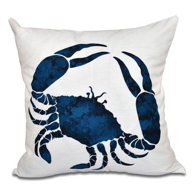 Rocio Crab Outdoor Throw Pillow Size: 20 H x 20 W, Color: Navy Blue