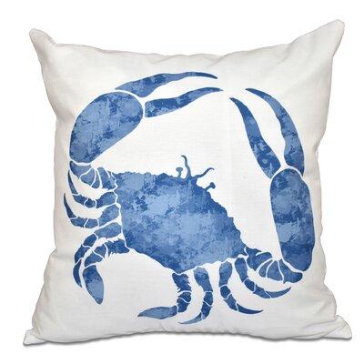 Rocio Crab Outdoor Throw Pillow Size: 18 H x 18 W, Color: Blue