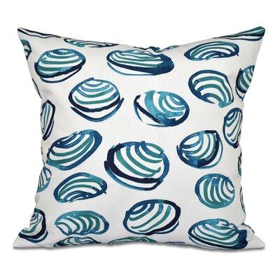 Rocio Clams Geometric Print Outdoor Throw Pillow Size: 20 H x 20 W, Color: Teal
