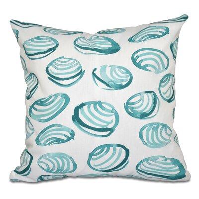 Rocio Clams Geometric Print Outdoor Throw Pillow Color: Aqua, Size: 20 H x 20 W