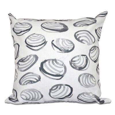 Rocio Clams Geometric Print Outdoor Throw Pillow Size: 20 H x 20 W, Color: Gray