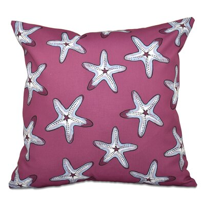 Rocio Soft Starfish Geometric Print Outdoor Throw Pillow Size: 20 H x 20 W, Color: Purple/Blue