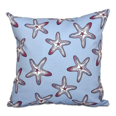 Rocio Soft Starfish Geometric Print Outdoor Throw Pillow Size: 18 H x 18 W, Color: Blue/Purple