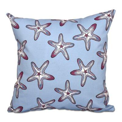 Rocio Soft Starfish Geometric Print Outdoor Throw Pillow Size: 20 H x 20 W, Color: Blue/Purple