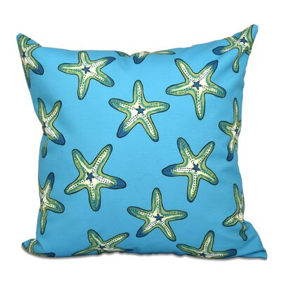 Cedarville Soft Starfish Geometric Print Outdoor Throw Pillow Size: 20 H x 20 W, Color: Turquoise/Green
